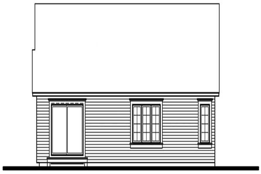 Home Plan Rear Elevation of this 2-Bedroom,1386 Sq Ft Plan -126-1710