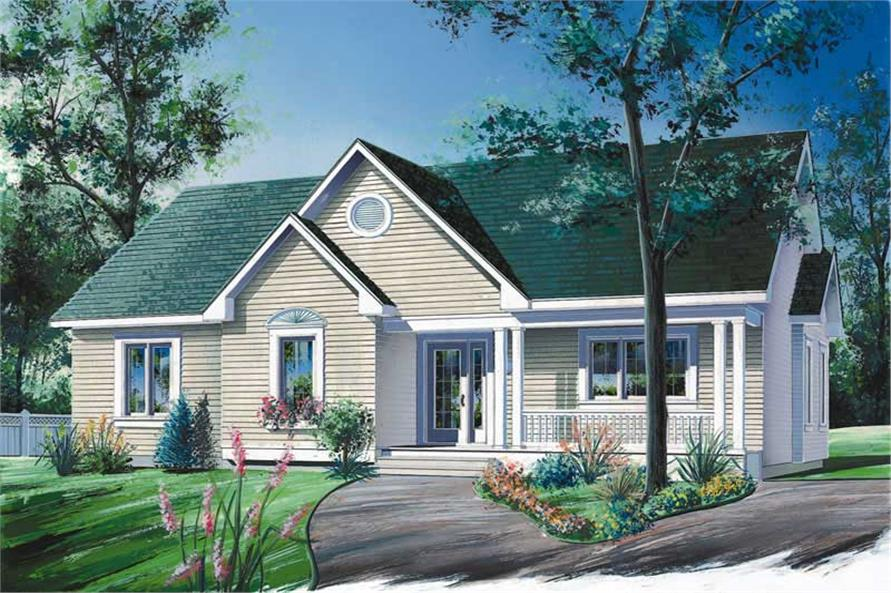 2-Bedroom, 1386 Sq Ft Ranch House Plan - 126-1710 - Front Exterior