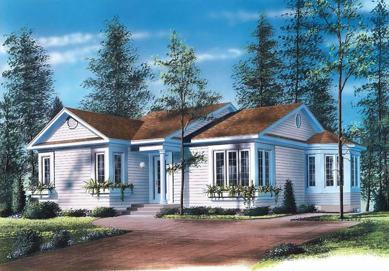 1 Beds 1 Baths 440 Sq Ft Plan 924 7: House Plan #126-1711 : 2 Bedroom, 1113 Sq Ft Ranch
