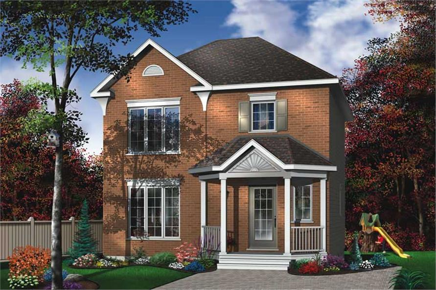 3-Bedroom, 1170 Sq Ft Traditional Home Plan - 126-1712 - Main Exterior