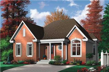 3-Bedroom, 1321 Sq Ft Bungalow House Plan - 126-1714 - Front Exterior