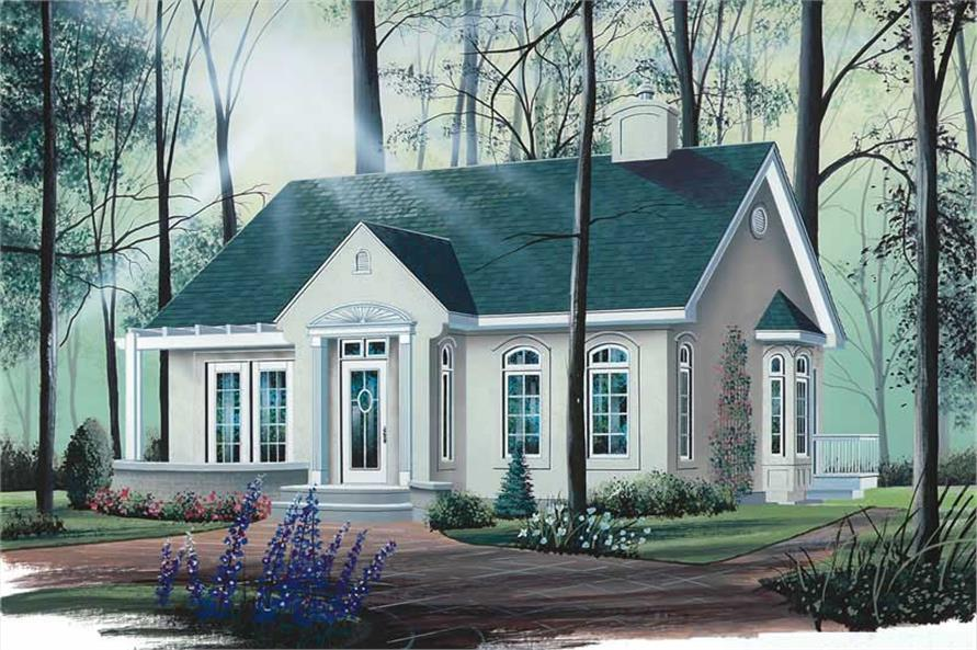2-Bedroom, 1066 Sq Ft Bungalow House Plan - 126-1715 - Front Exterior