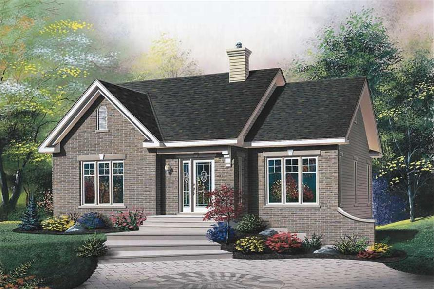 2-Bedroom, 1098 Sq Ft Bungalow House Plan - 126-1716 - Front Exterior