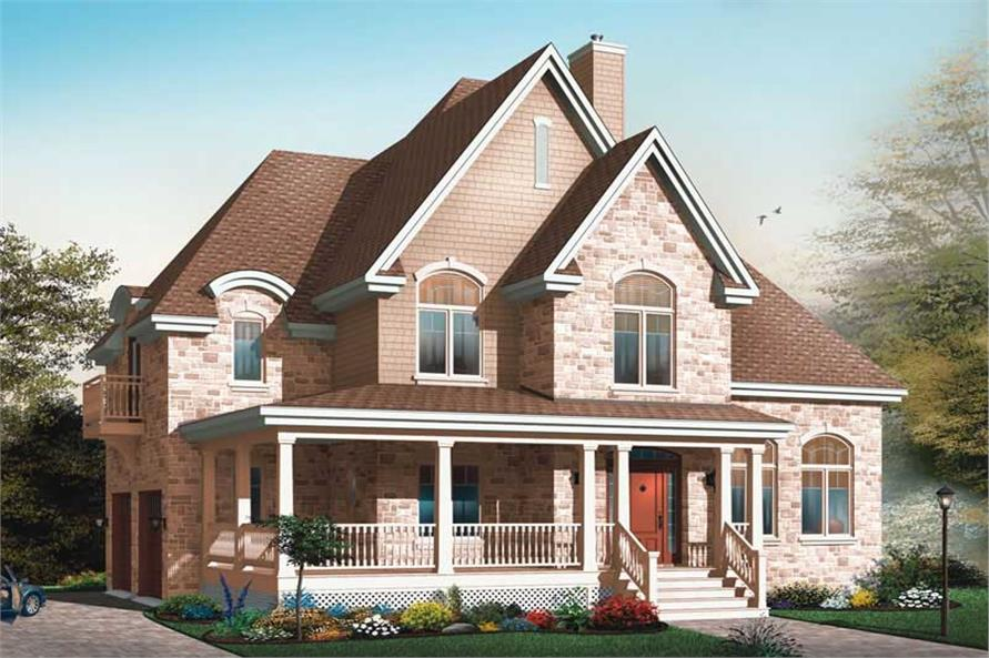Home Plan Rear Elevation of this 4-Bedroom,3321 Sq Ft Plan -126-1718