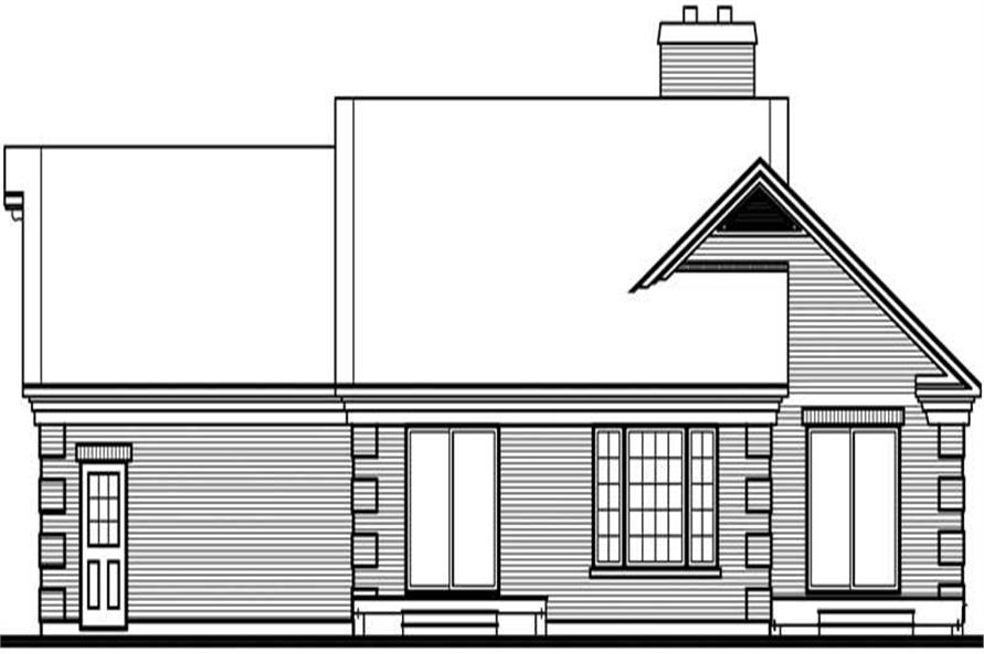 Home Plan Rear Elevation of this 3-Bedroom,1524 Sq Ft Plan -126-1722