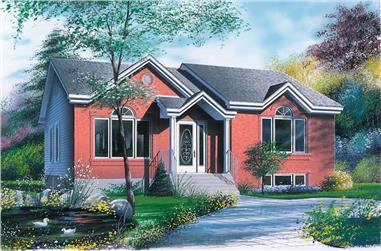 3-Bedroom, 1197 Sq Ft Traditional House - Plan #126-1724 - Front Exterior
