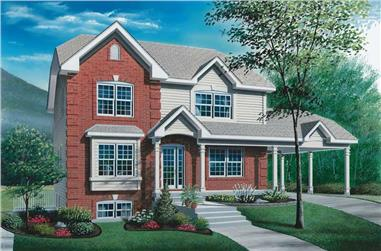 1, 2 and 3 Bedroom Multi-Unit Plan - 126-1729 - Front Exterior
