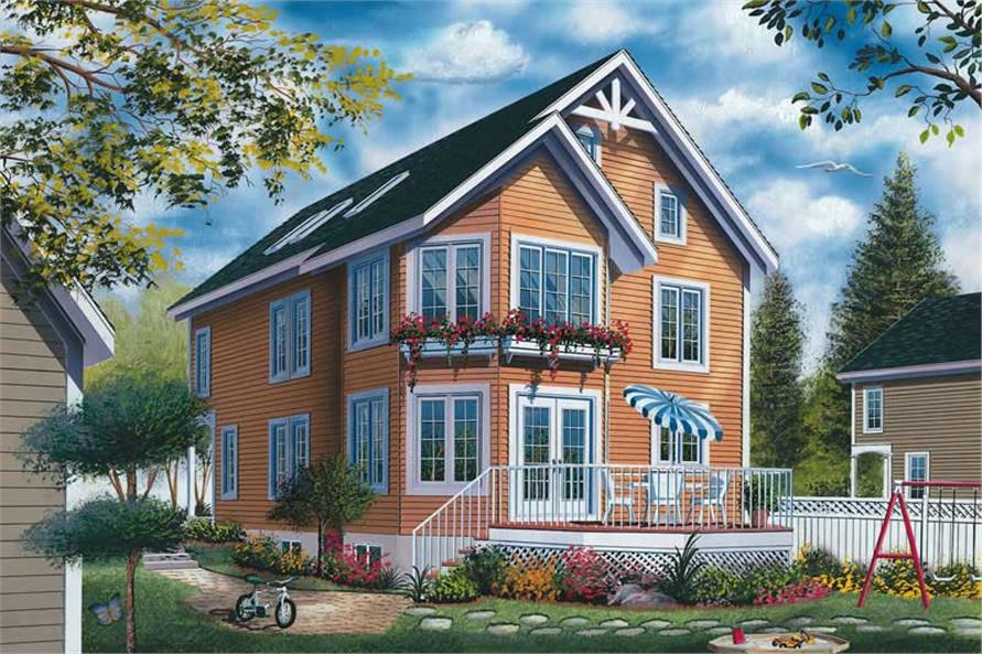 4-Bedroom, 2750 Sq Ft Country Home Plan - 126-1741 - Main Exterior