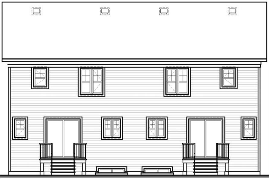 Home Plan Rear Elevation of this 2-Bedroom,2208 Sq Ft Plan -126-1749