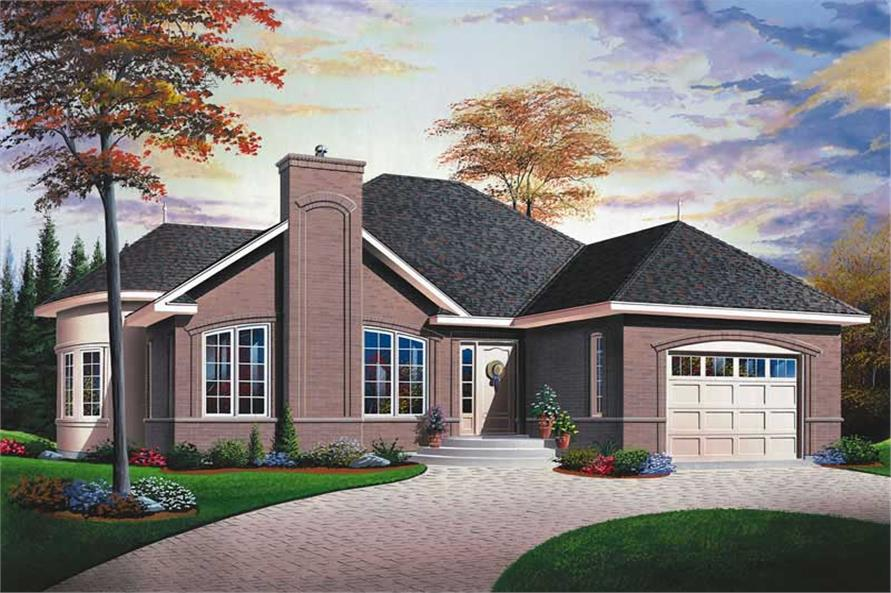 2-Bedroom, 1178 Sq Ft Bungalow House Plan - 126-1750 - Front Exterior