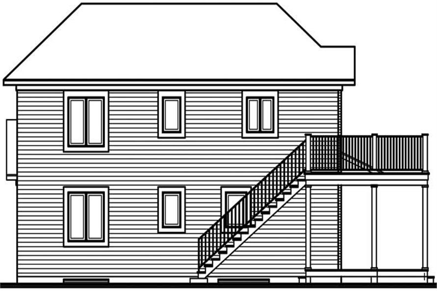 Home Plan Rear Elevation of this 4-Bedroom,2112 Sq Ft Plan -126-1754