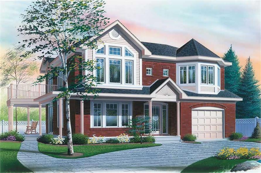 4-Bedroom, 2112 Sq Ft Victorian Home Plan - 126-1754 - Main Exterior