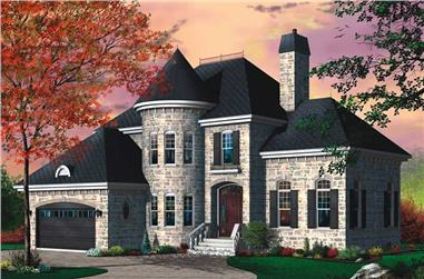 3-Bedroom, 2310 Sq Ft European Home Plan - 126-1755 - Main Exterior