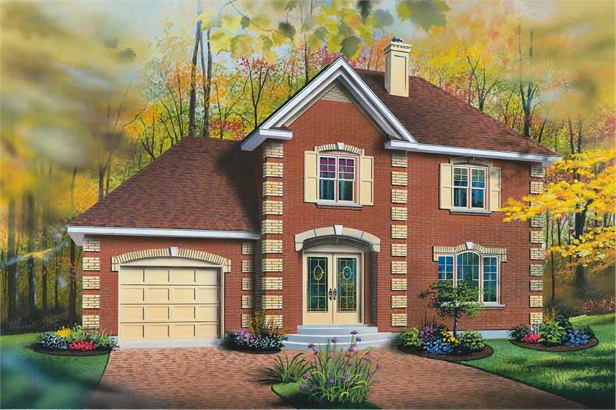 HOME PLAN FRONT ELEVATION of this 3-Bedroom,1462 Sq Ft Plan -1462