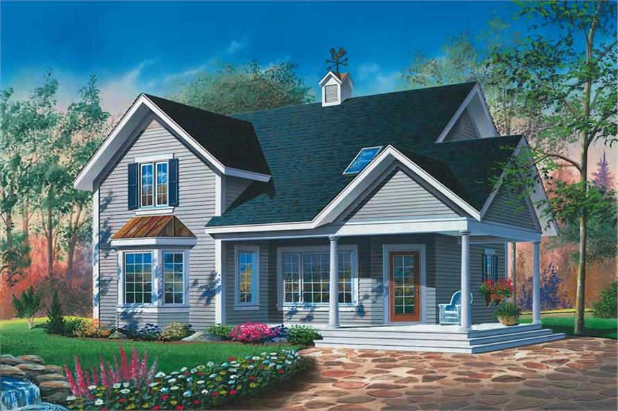 3-Bedroom, 1594 Sq Ft Country Home Plan - 126-1763 - Main Exterior