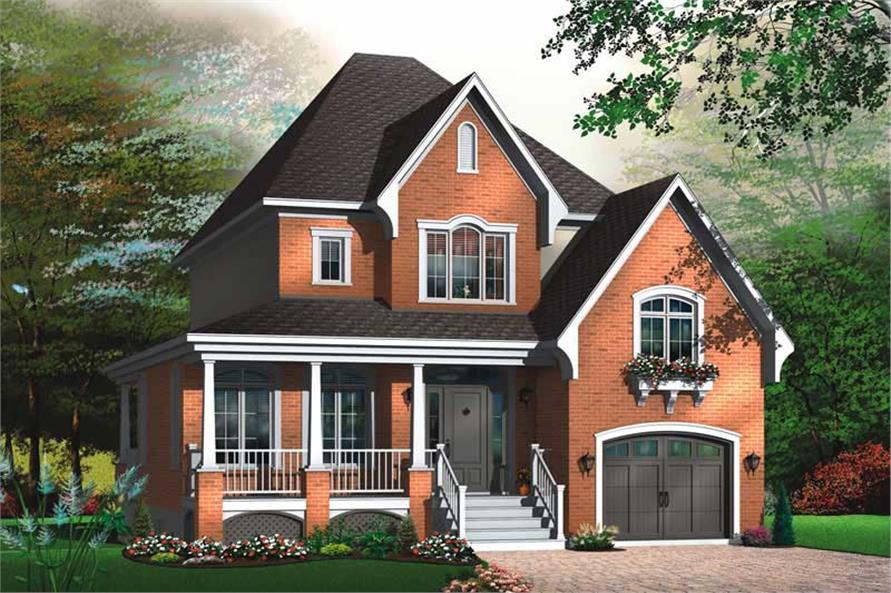3-Bedroom, 1864 Sq Ft Contemporary Home Plan - 126-1766 - Main Exterior
