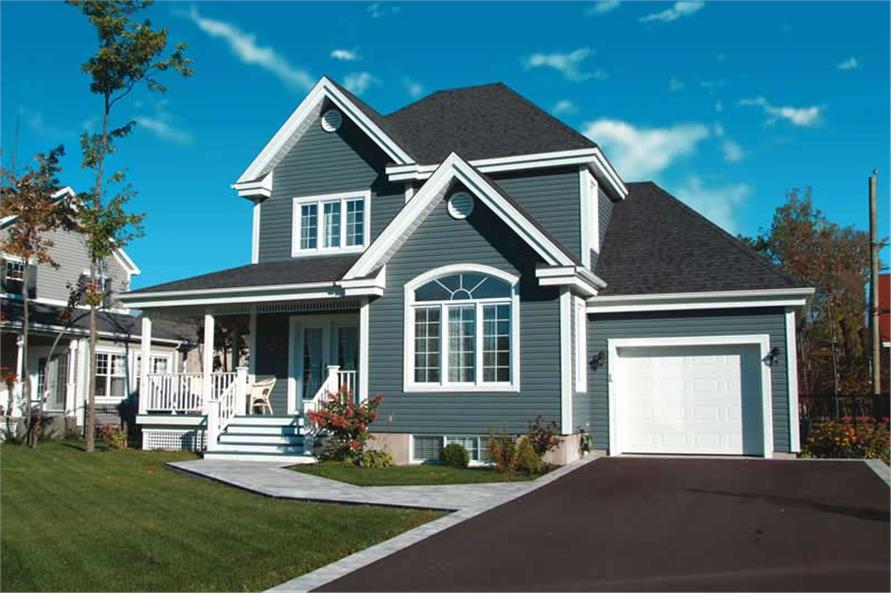 3-Bedroom, 1432 Sq Ft Country House Plan - 126-1771 - Front Exterior