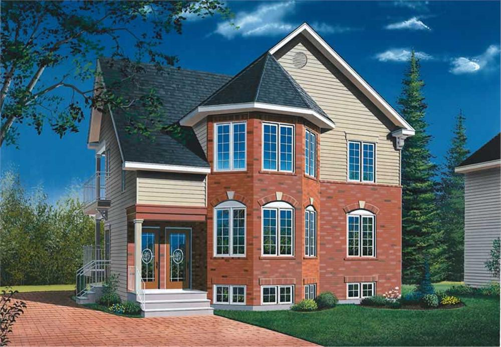Front elevation of Multi-Unit home (ThePlanCollection: House Plan #126-1773)