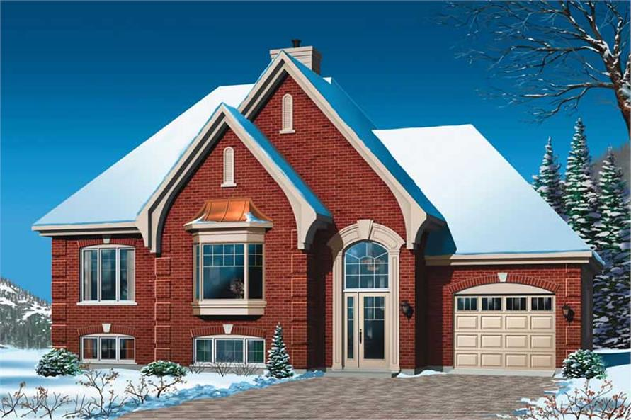 2-Bedroom, 1129 Sq Ft Ranch House Plan - 126-1777 - Front Exterior