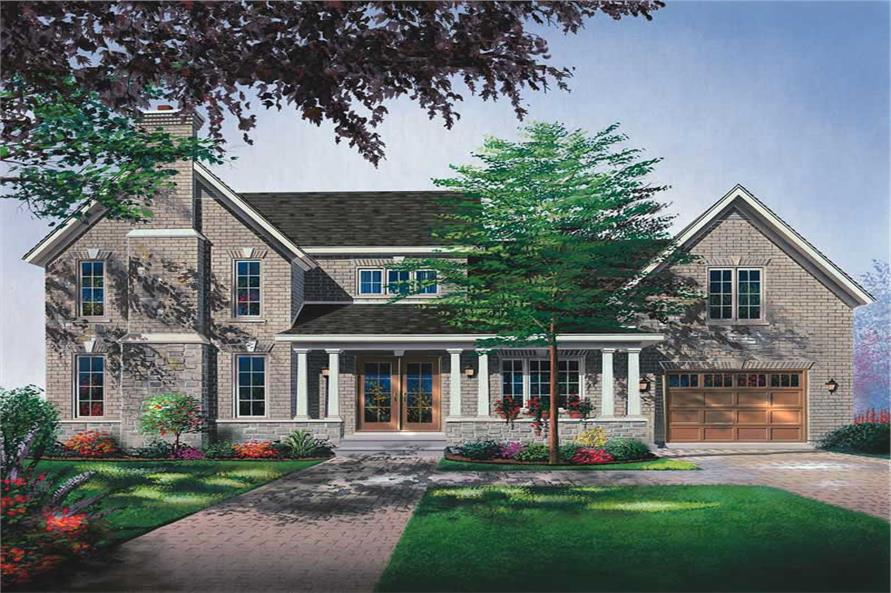 3-Bedroom, 2032 Sq Ft Country Home Plan - 126-1779 - Main Exterior