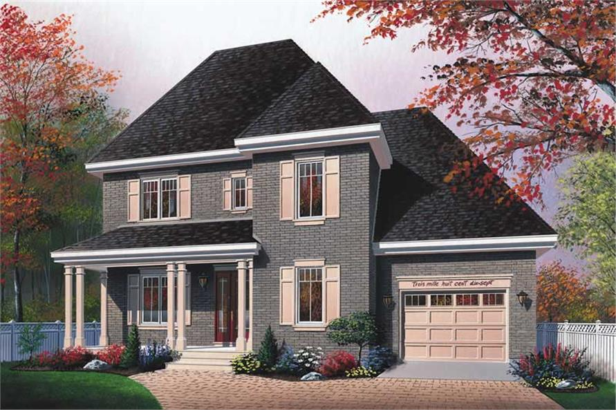 3-Bedroom, 1703 Sq Ft Country House Plan - 126-1781 - Front Exterior