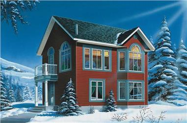 2-Bedroom, 1088 Sq Ft Country House Plan - 126-1782 - Front Exterior
