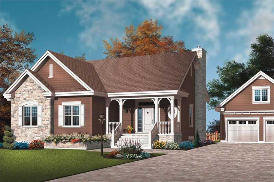 3-Bedroom, 1498 Sq Ft Ranch Home Plan - 126-1783 - Main Exterior