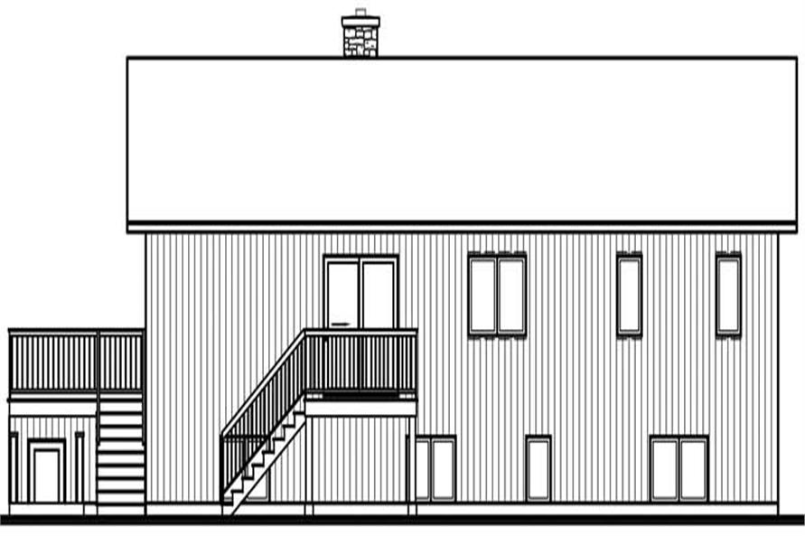 Home Plan Rear Elevation of this 4-Bedroom,3104 Sq Ft Plan -126-1784