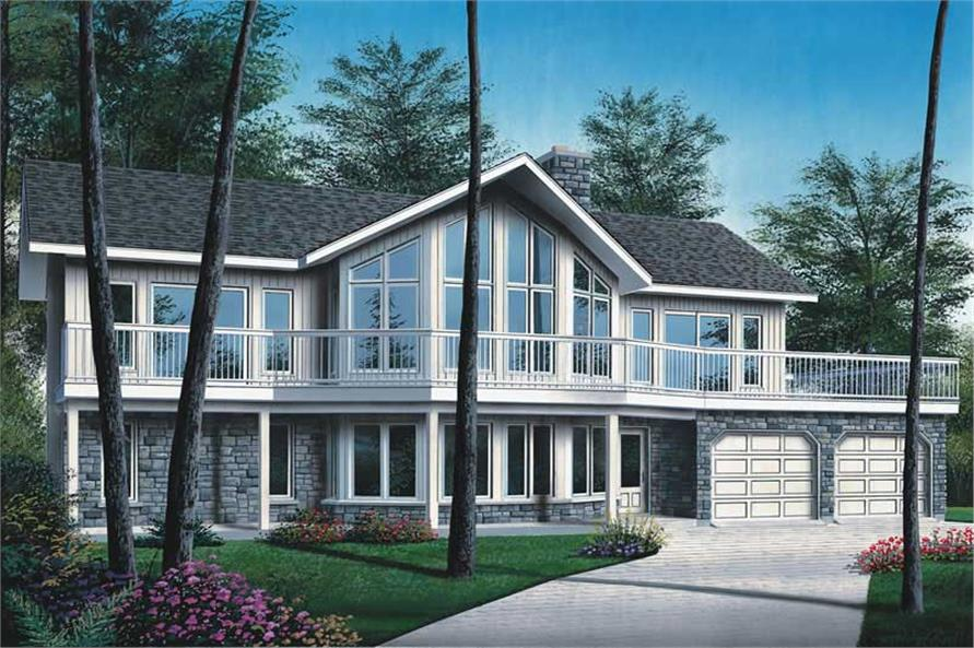 4-Bedroom, 3104 Sq Ft Contemporary House Plan - 126-1784 - Front Exterior