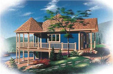 3-Bedroom, 1992 Sq Ft Ranch Home Plan - 126-1786 - Main Exterior
