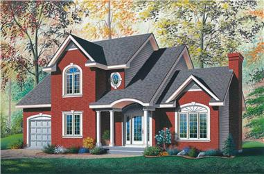 3-Bedroom, 1717 Sq Ft Traditional Home Plan - 126-1790 - Main Exterior
