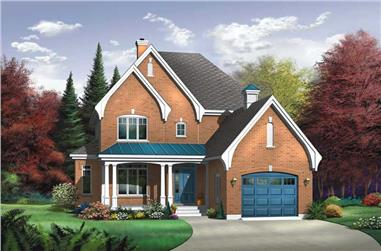 3-Bedroom, 2138 Sq Ft Country Home Plan - 126-1791 - Main Exterior
