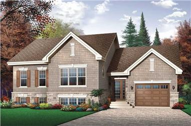 2-Bedroom, 1155 Sq Ft Ranch House Plan - 126-1792 - Front Exterior