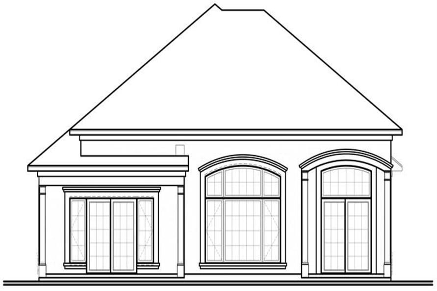 houseplan dd-3249 rear elevation
