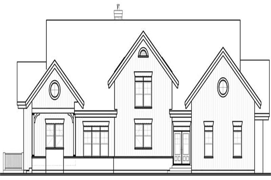 Home Plan Left Elevation of this 7-Bedroom,9028 Sq Ft Plan -126-1795