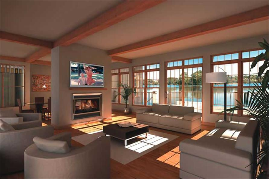 Living Room of this 7-Bedroom,9028 Sq Ft Plan -9028