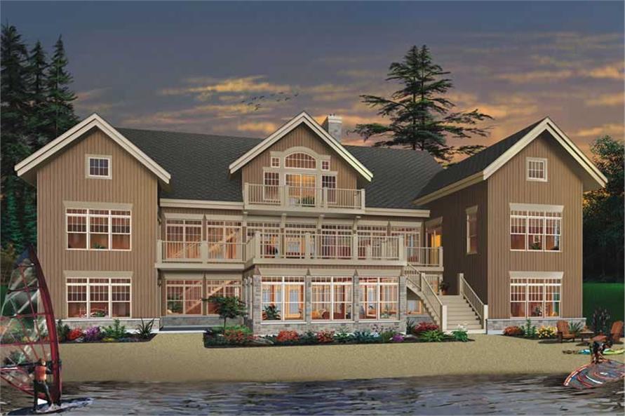 7-Bedroom, 9028 Sq Ft Beachfront House Plan - 126-1795 - Front Exterior