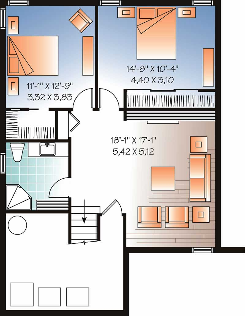 houseplan dd-3318 basement
