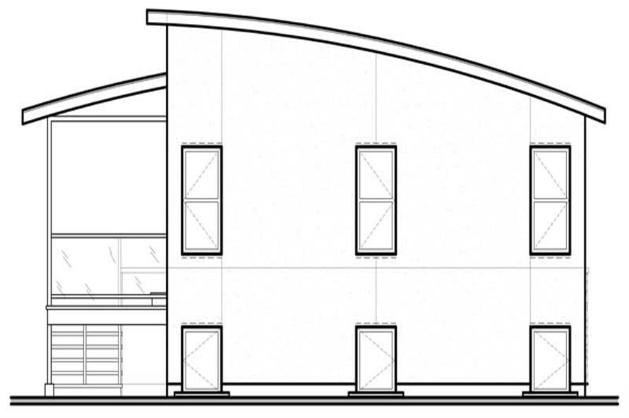 Home Plan Rear Elevation of this 4-Bedroom,1879 Sq Ft Plan -126-1798