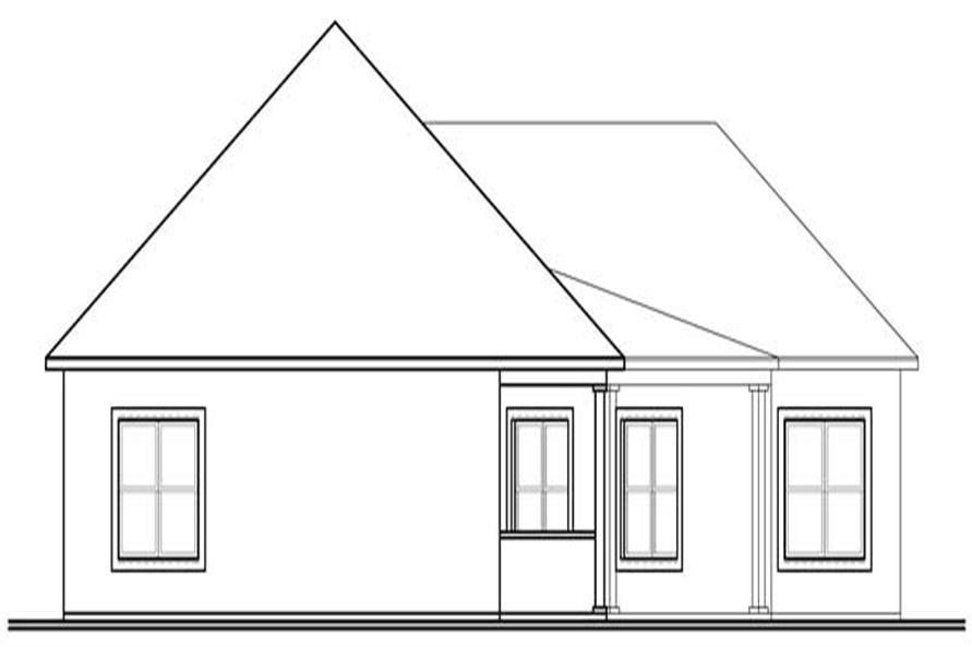 houseplan dd-3256 rear elevation