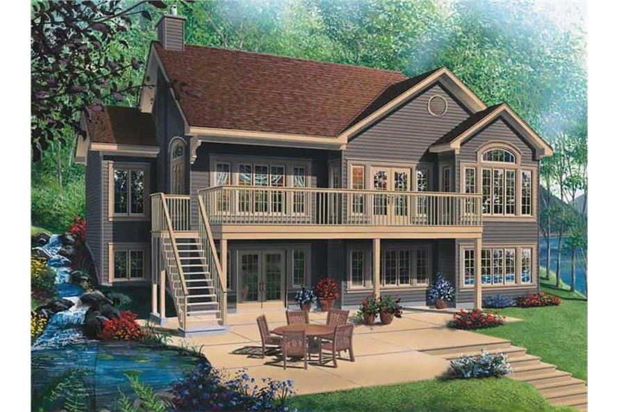 Rear View of this 4-Bedroom,2812 Sq Ft Plan -126-1801