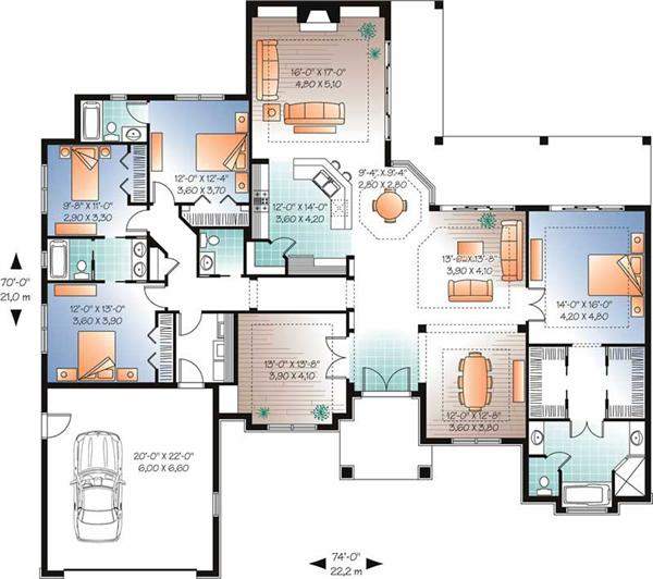 Home Plan DD-3254 First Floor