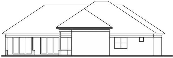 houseplan dd-3254 rear elevation