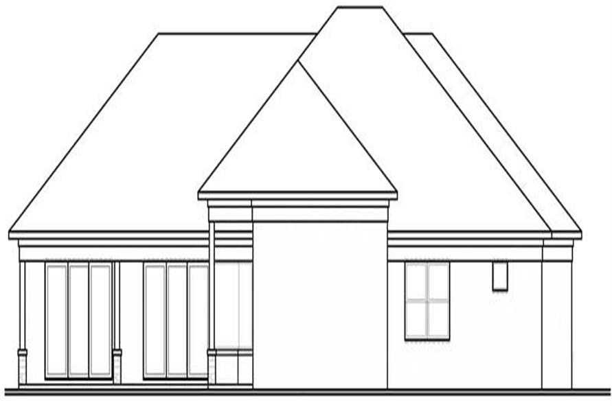 Home Plan Rear Elevation of this 4-Bedroom,2842 Sq Ft Plan -126-1802