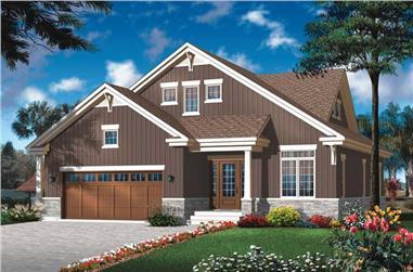4-Bedroom, 2141 Sq Ft Craftsman House Plan - 126-1803 - Front Exterior
