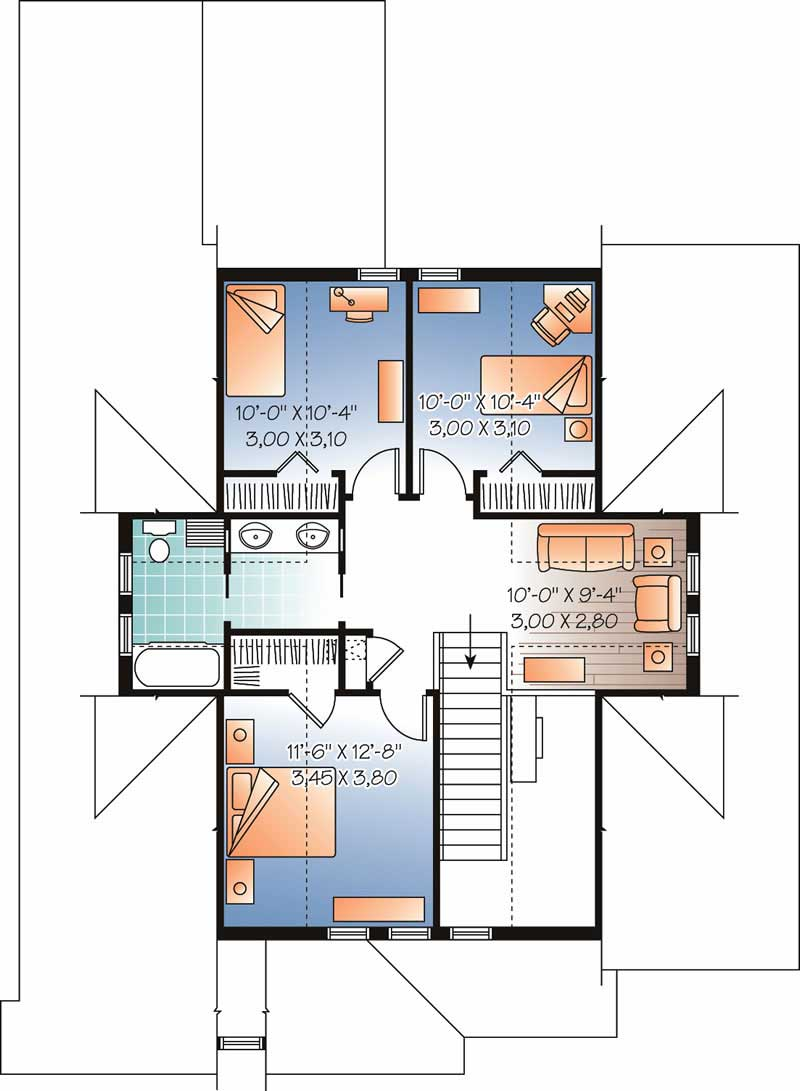 Houseplan dd-3608 Second Floor