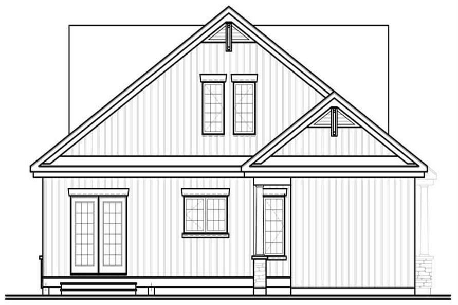 Home Plan Rear Elevation of this 4-Bedroom,2141 Sq Ft Plan -126-1803