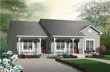 2-Bedroom, 1185 Sq Ft Ranch House Plan - 126-1804 - Front Exterior