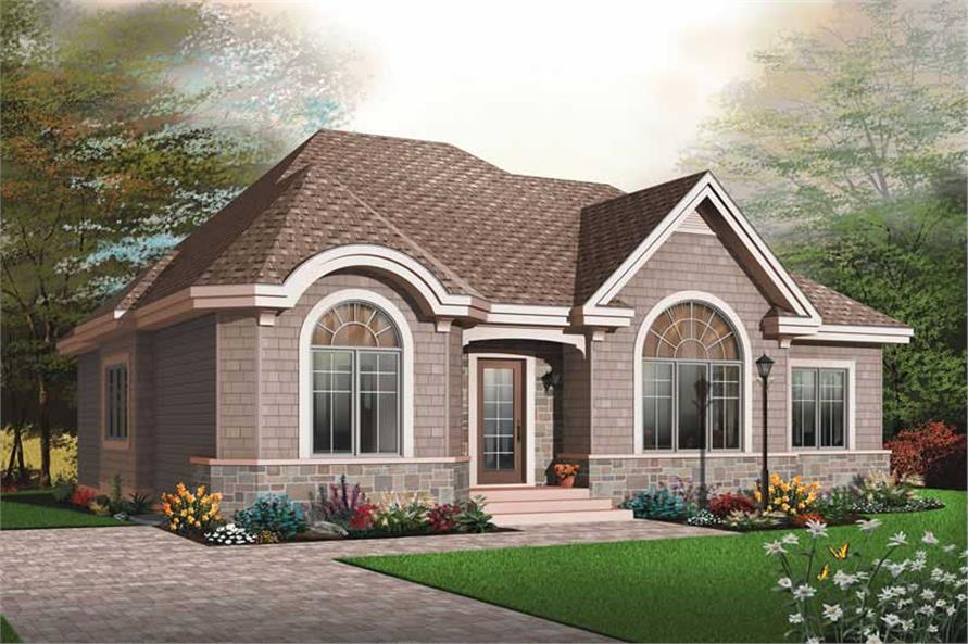 3-Bedroom, 1593 Sq Ft Ranch Home Plan - 126-1807 - Main Exterior