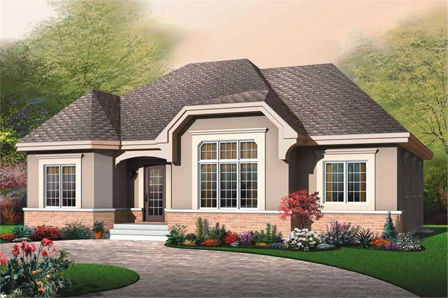 3-Bedroom, 1578 Sq Ft Ranch Home Plan - 126-1808 - Main Exterior